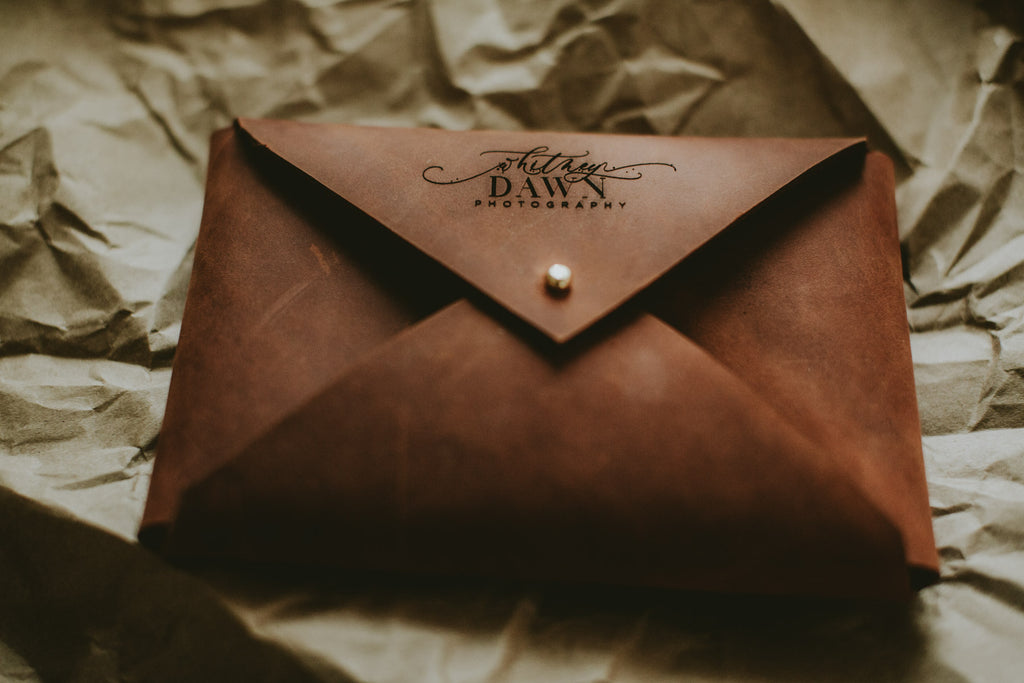 leather envelope for 4x6 prints