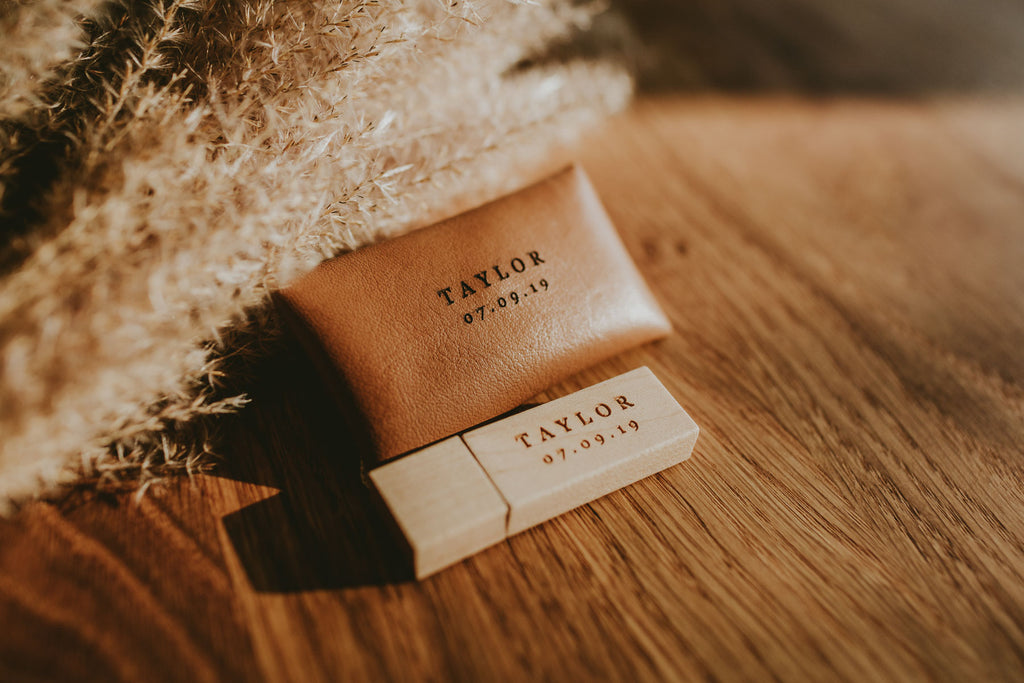 vegan leather pouches for usb drives
