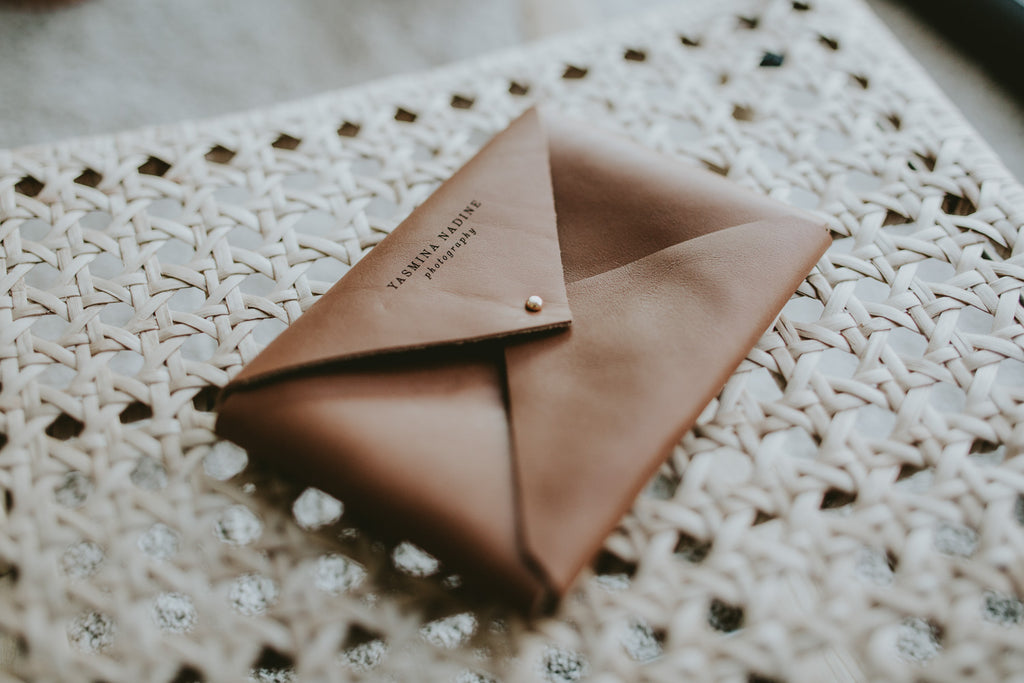 classic leather envelope for 4x6 prints