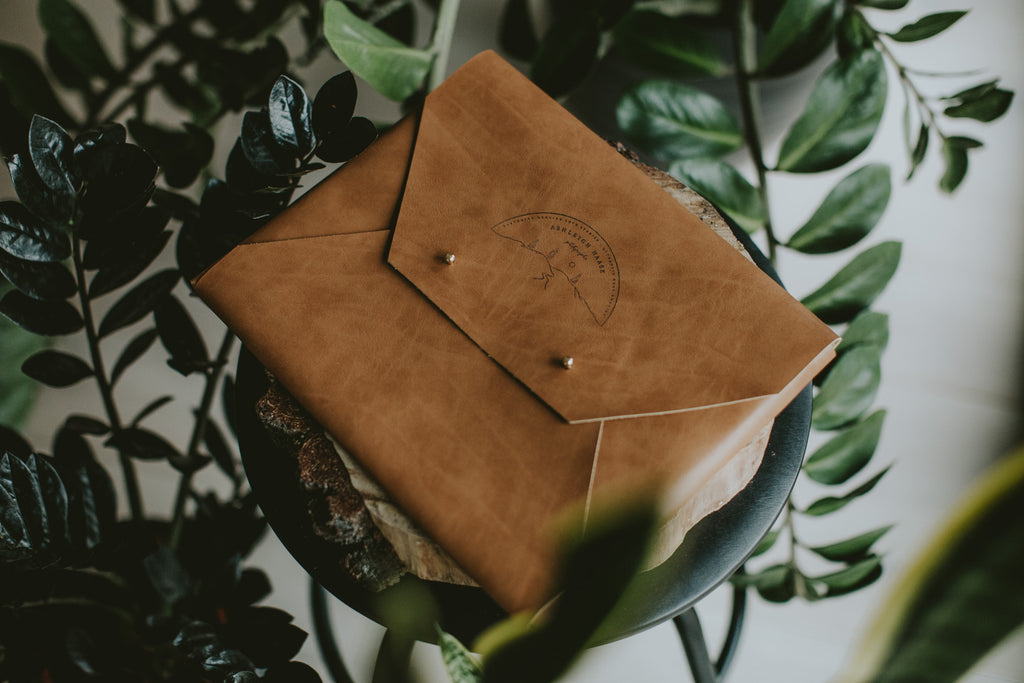vegan leather folder for prints