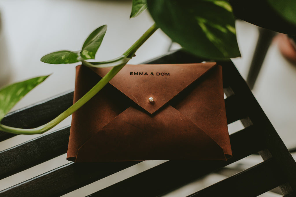 leather packaging for wedding photographers