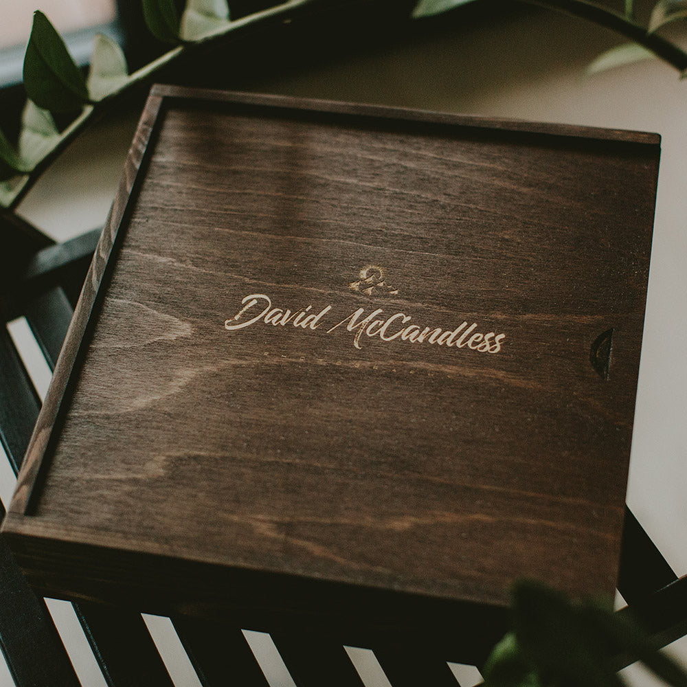 Wooden boxes for 10x10 albums
