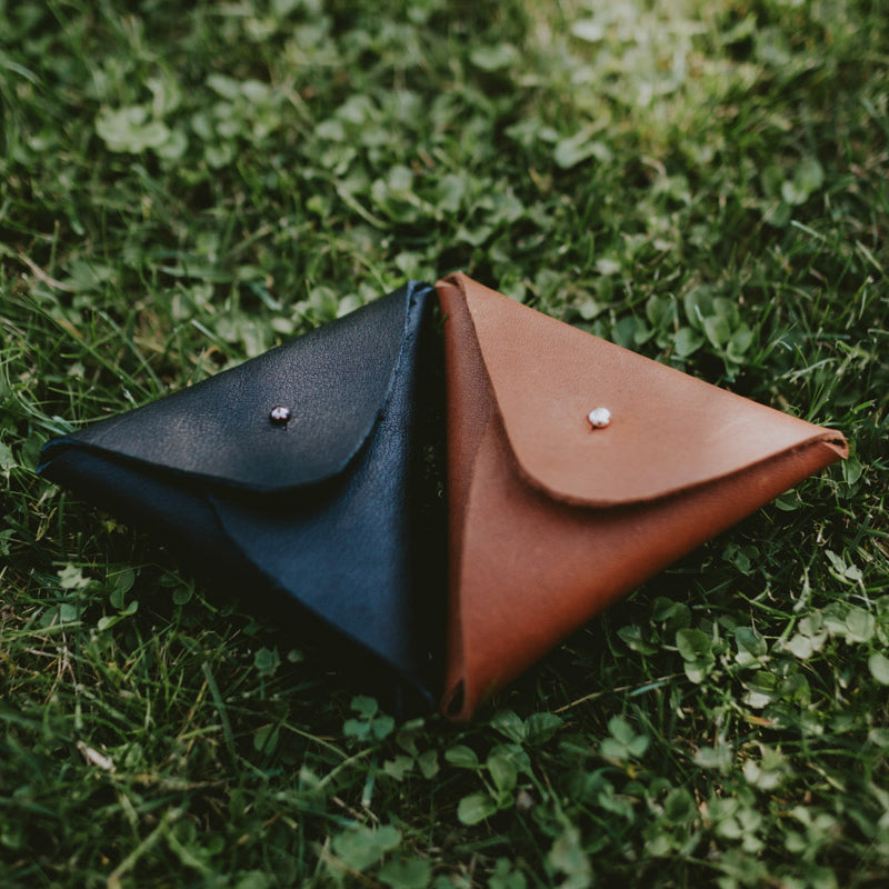 Leather pouch for USB | Honey brown - set of 5 pcs