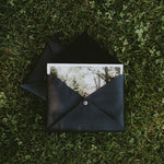Leather envelope for 4x6 prints (black)