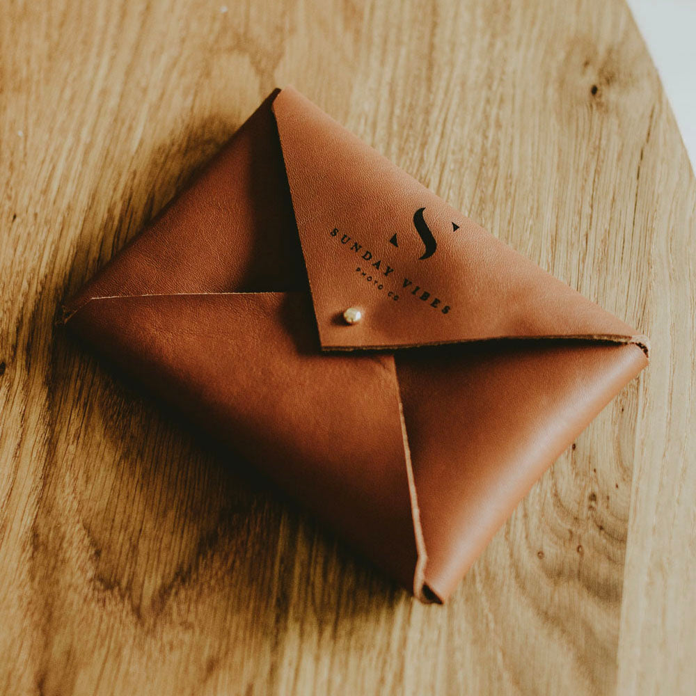 Classic Leather envelope for prints | Walnut Brown - set of 10 pcs