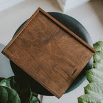 Rectangular wooden box for 8x10 prints