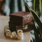 Wooden box for USB drives with lock