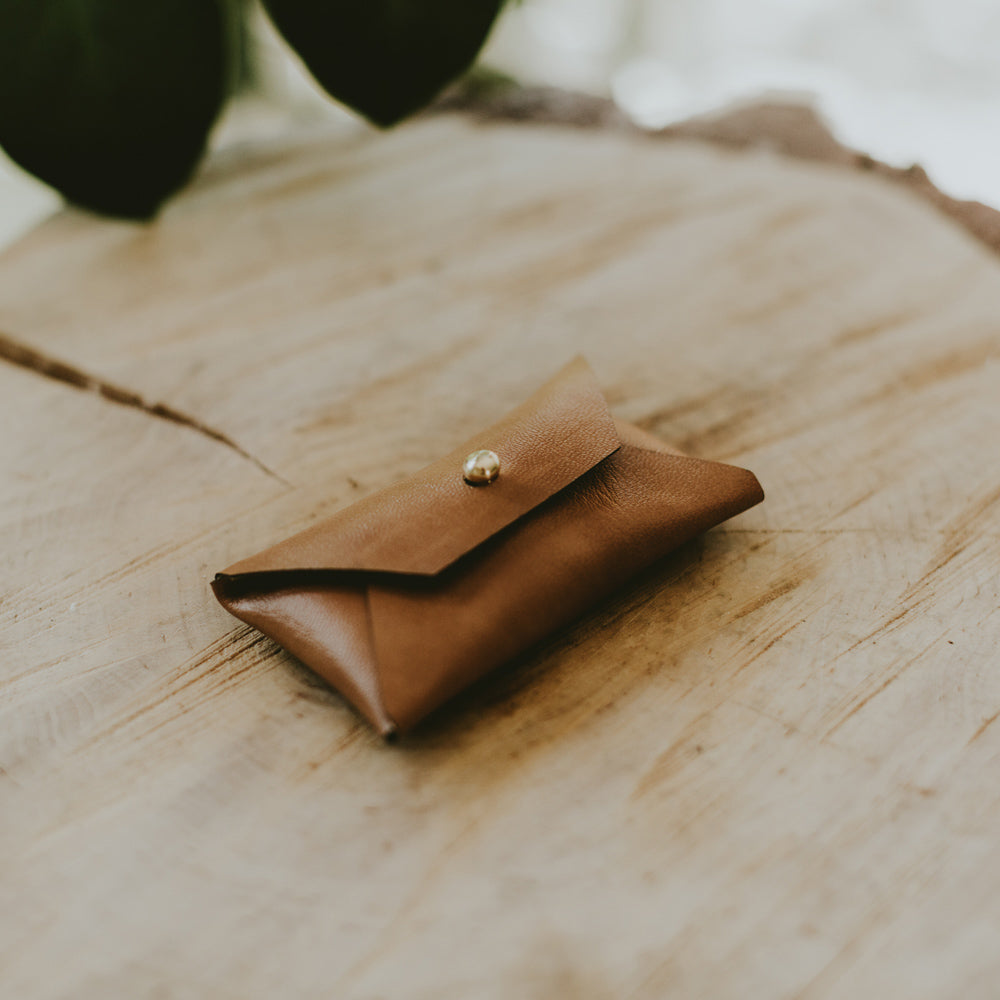 Vegan Leather pouch for USB | Cognac Brown - Set of 5 pcs