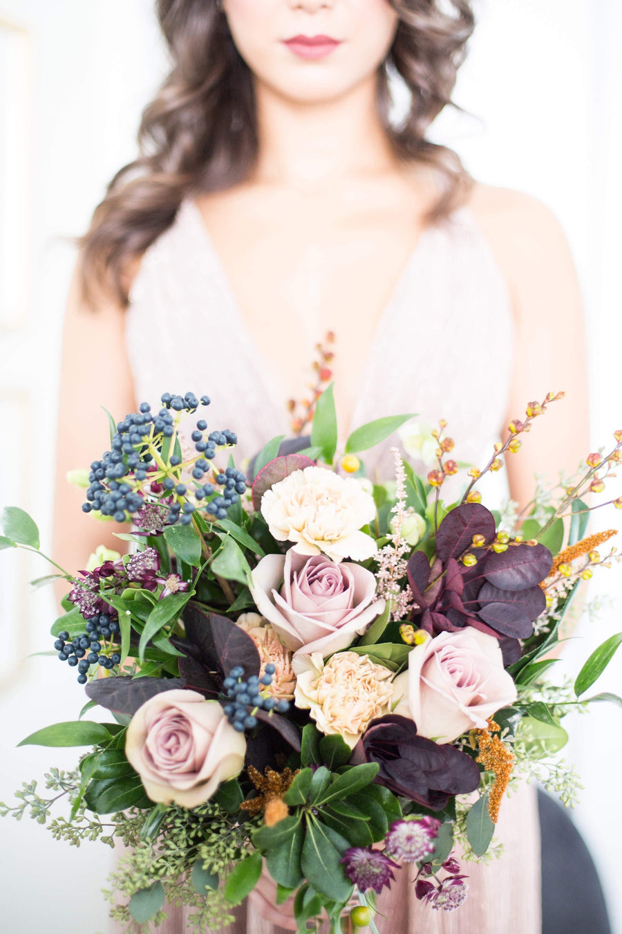 Bridal bouquet - rich and moody