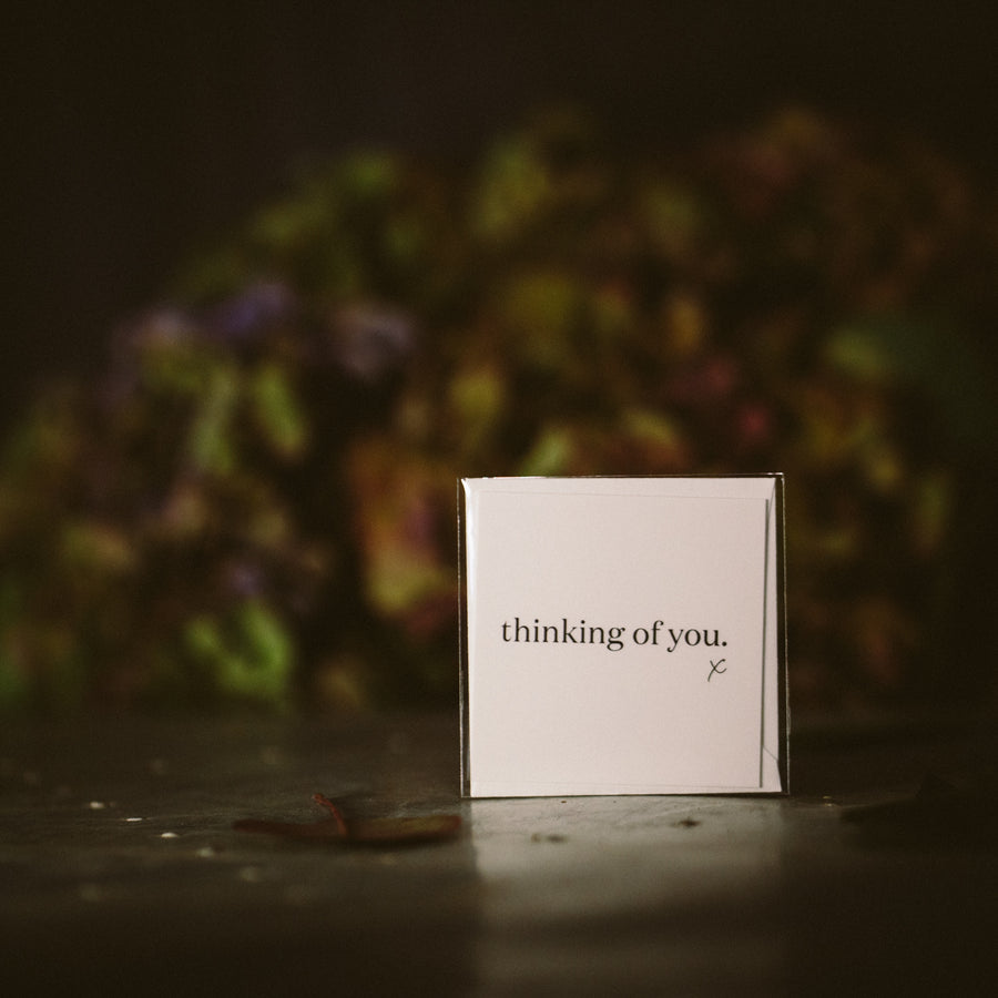 """Thinking of you. x"" mini card"