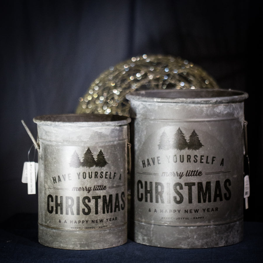 """Merry Little Christmas"" medium container"
