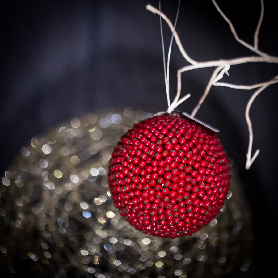 Berry Ball Ornament- 5.25""