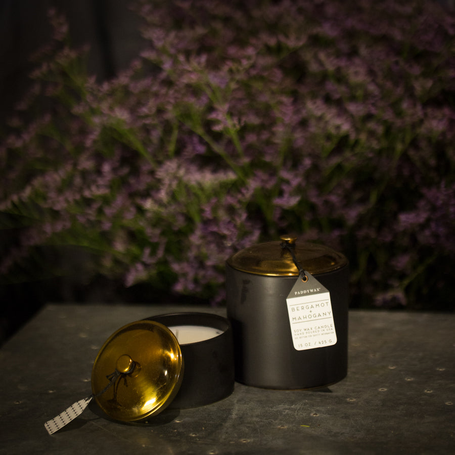 Bergamot and Mahogany Candle- 15 oz
