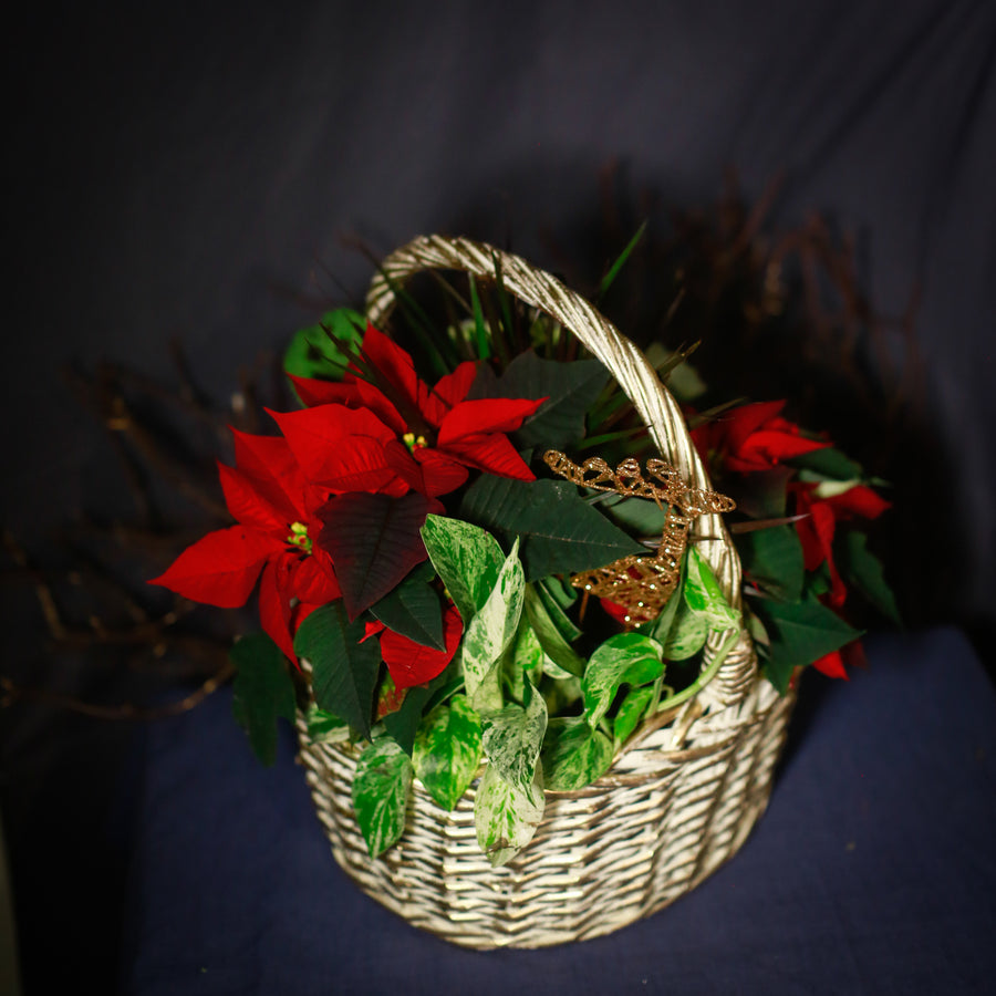 Large Christmas Willow Basket