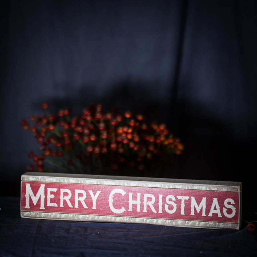 """Merry Christmas"" vintage sign"