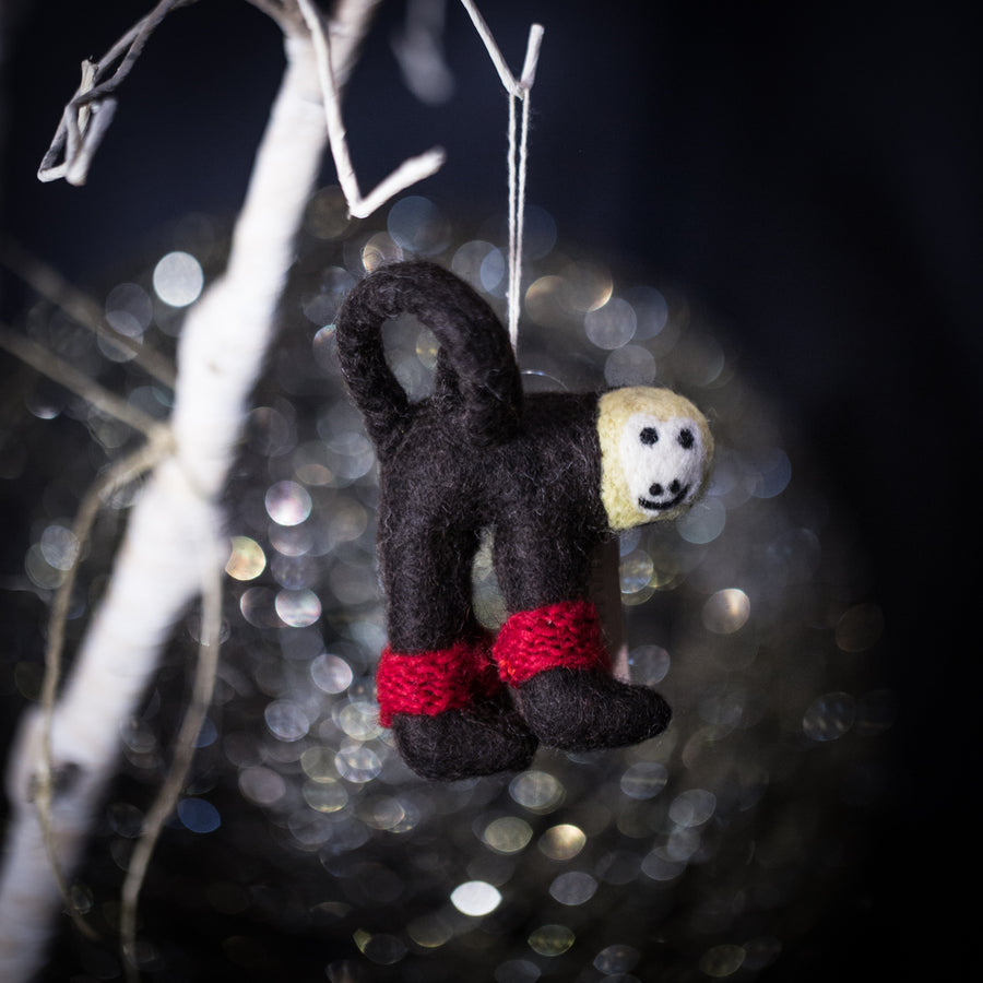 "Sloth ""endangered friends"" ornament"