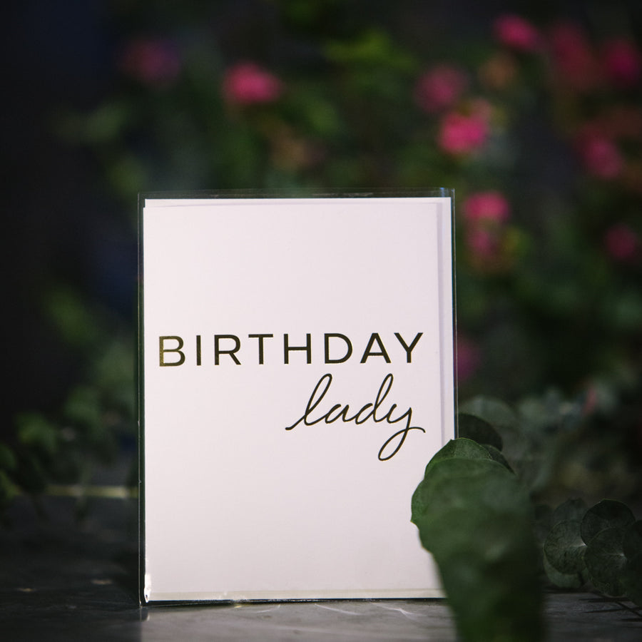 """Birthday Lady"" card"