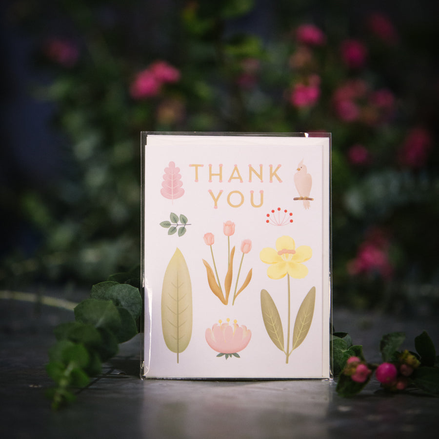 """Thank you"" White Card"