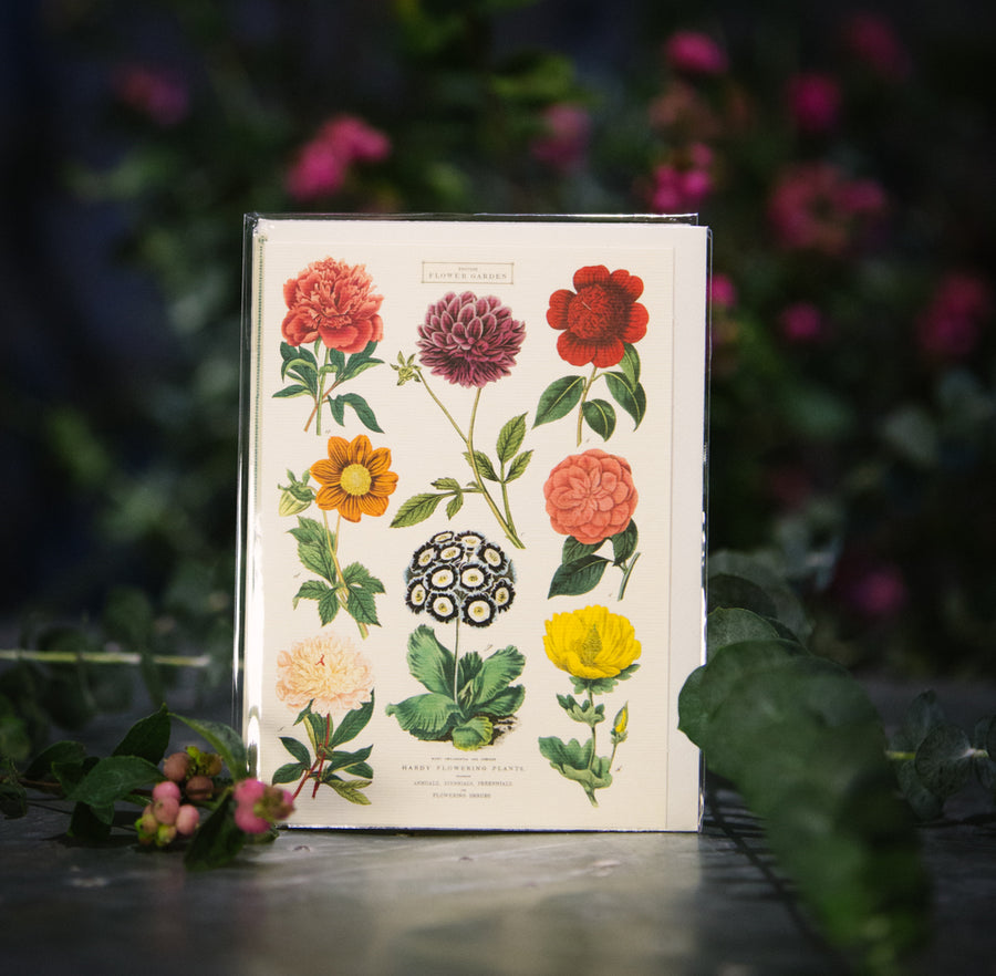 """British Flower Garden"" Card"