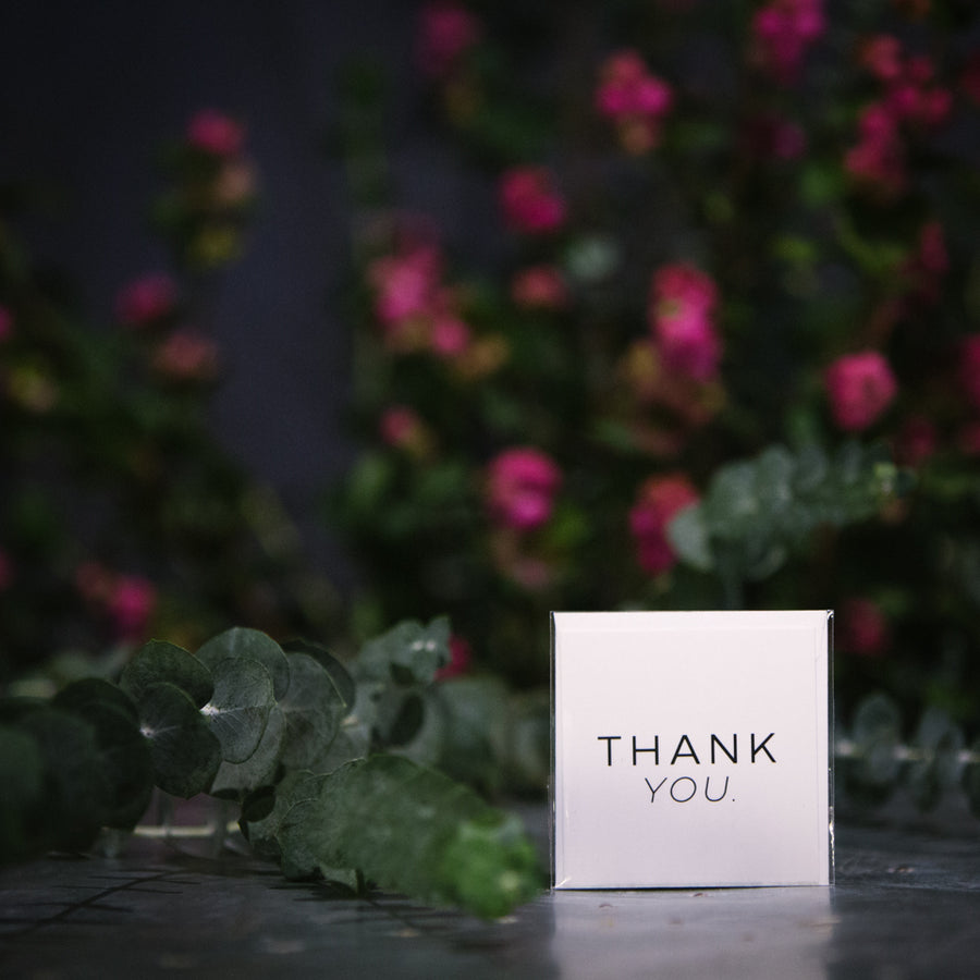 """Thank You"" White Mini Card"