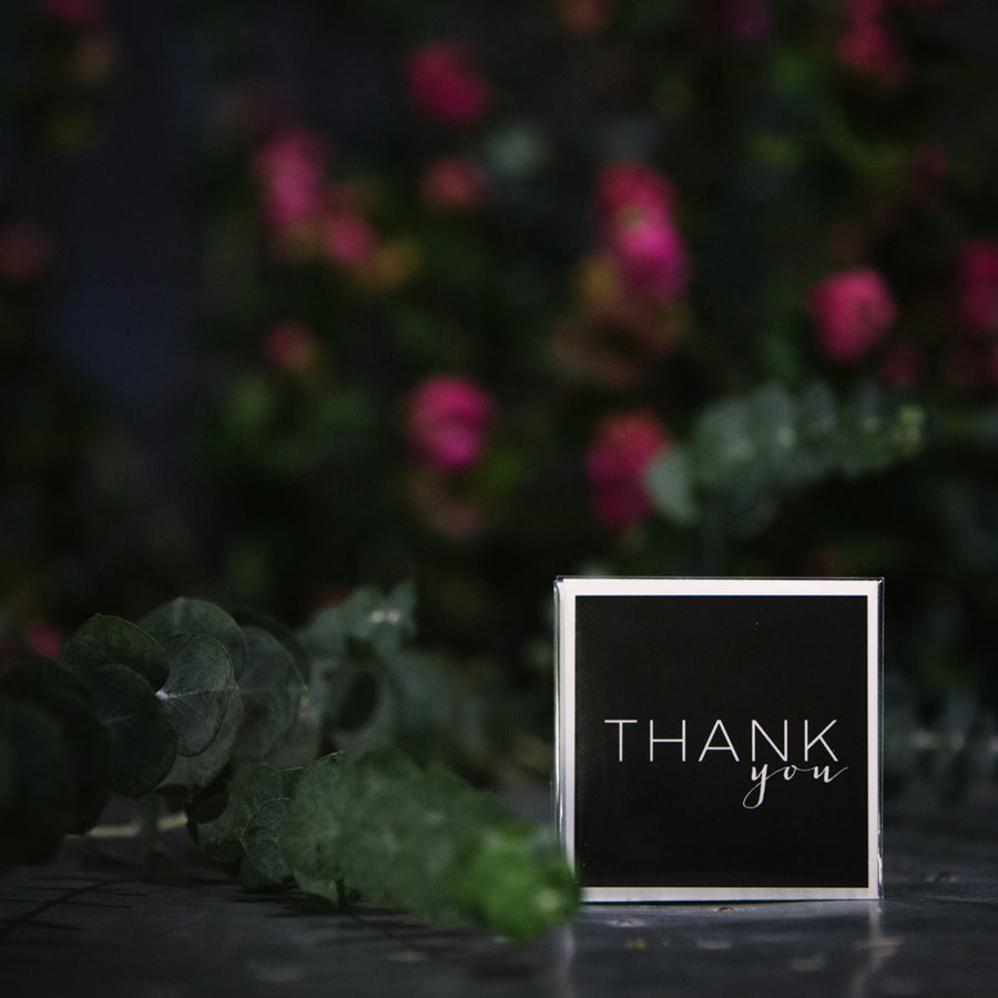 """Thank You"" Black Mini Card"