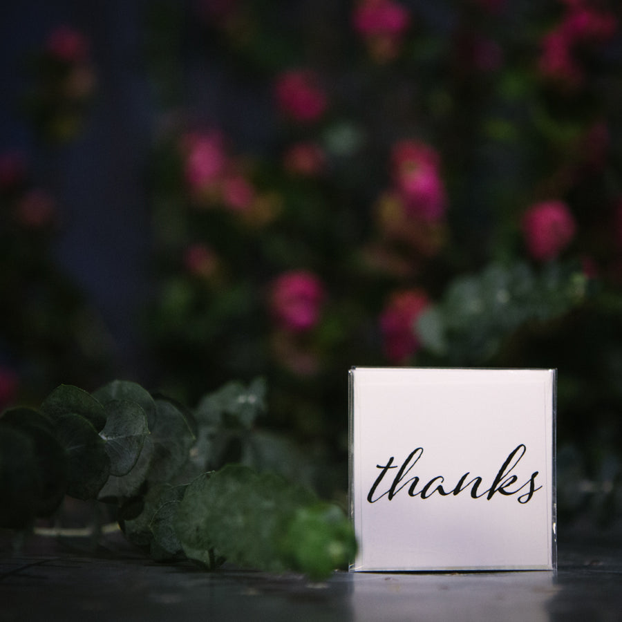 """Thanks"" Small Card"