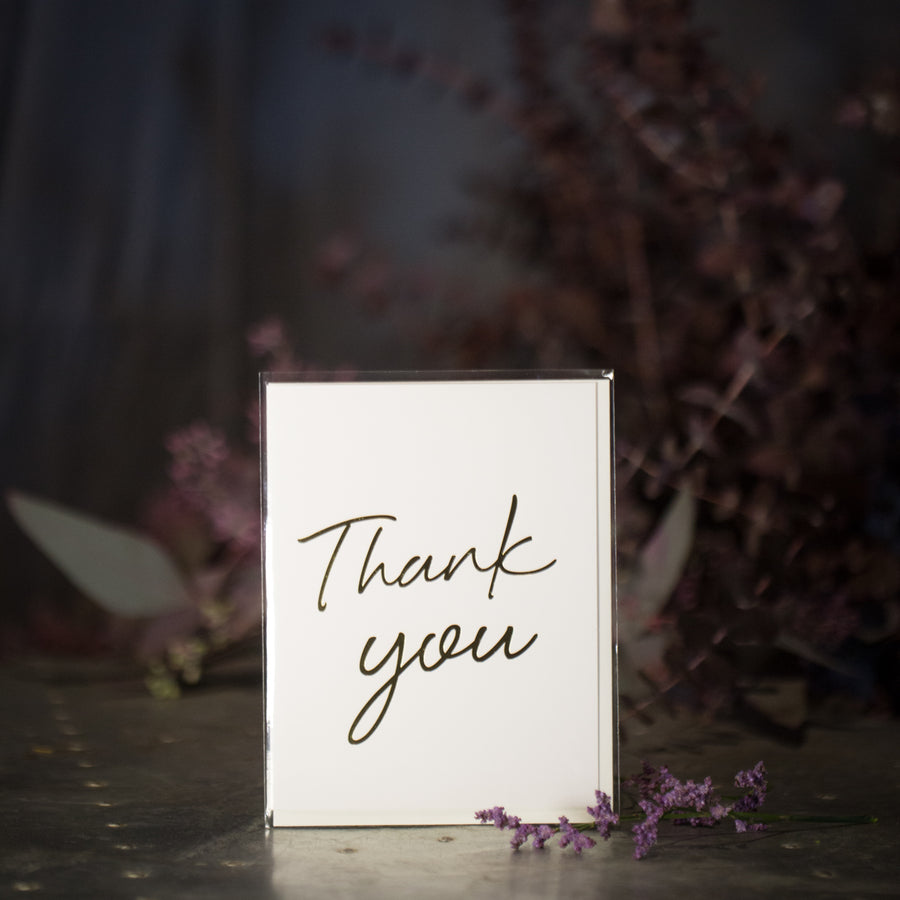 """Thank You"" Card (Gold)"