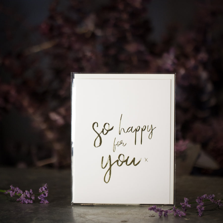 """So happy for you"" card"