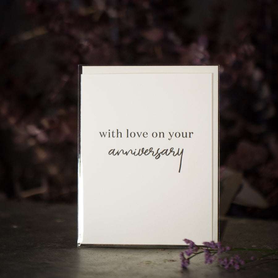 """With love on your anniversary"" card"