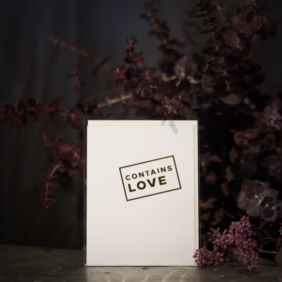 """Contains love"" card"