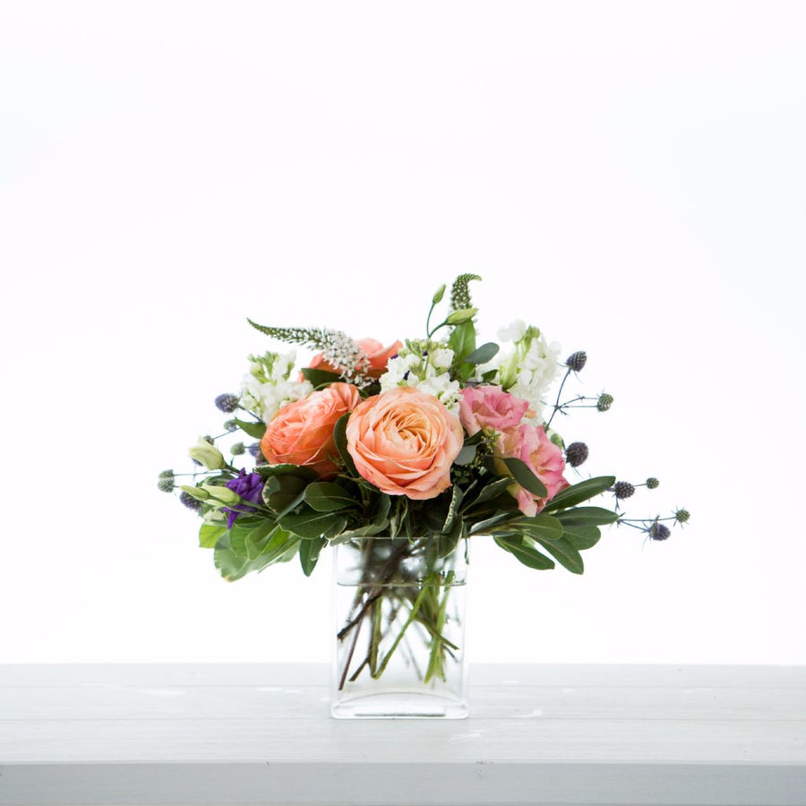 Vase Arrangement in a Soft Garden Colour Palette