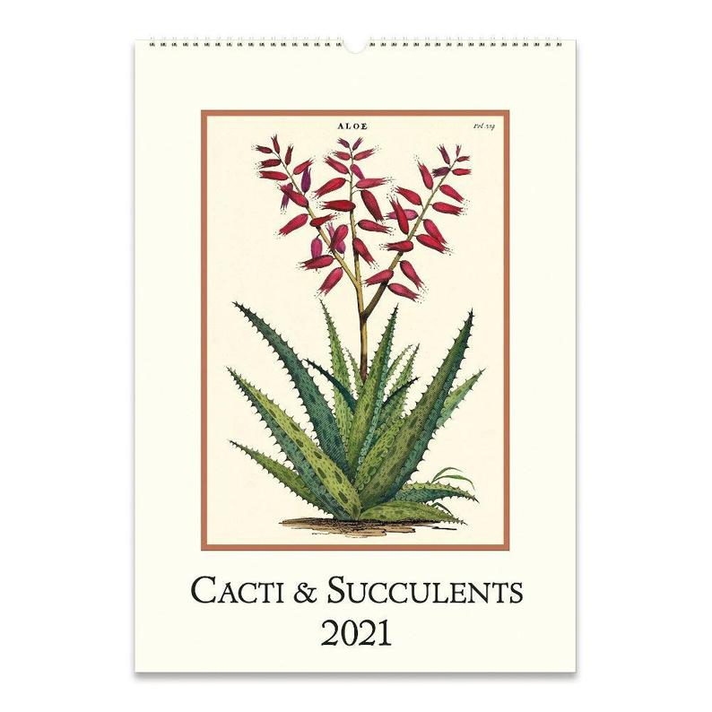 Cacti and Succulents Wall Calender