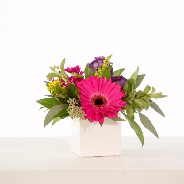 Vase Arrangement in a Bright & Colourful Colour Palette