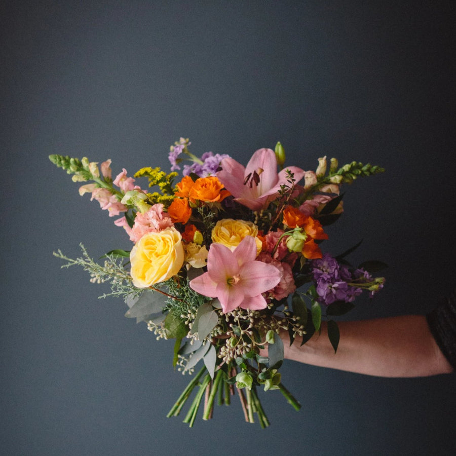 Fleurish Signature Hand Tied Bouquet | Bright & Colourful