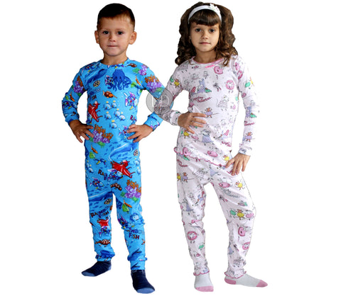 100% cotton pajamas for kids made in usa
