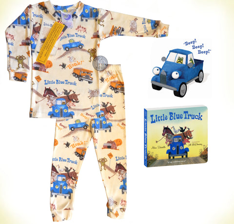"Age 2-4: ""Little Blue Truck"" Picture Book, Plush & PJ's"