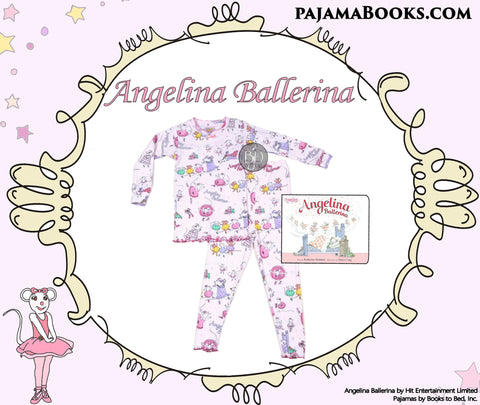 Books to Bed Angelina Ballerina Book and Pajamas set