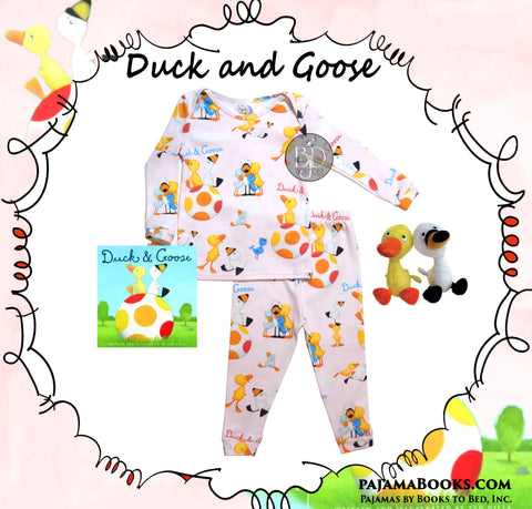 """Duck and Goose"" Girl Bedtime Story-Set - PajamaBooks"
