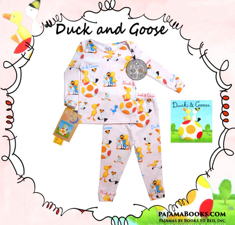 "Books to Bed: ""Duck and Goose""  - Pajamas & Book Set"