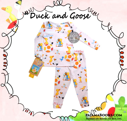 Baby-Girl 100% Cotton Sleepwear Made in USA Duck and Goose