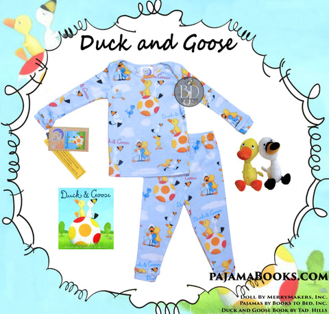 "Baby-boy gift set: ""Duck and Goose"" - PajamaBooks.com"