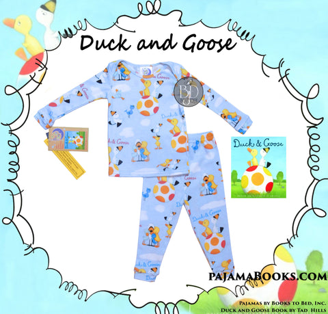 "Toddler Boy Reading Set ""Duck and Goose"" - Book & PJ's"