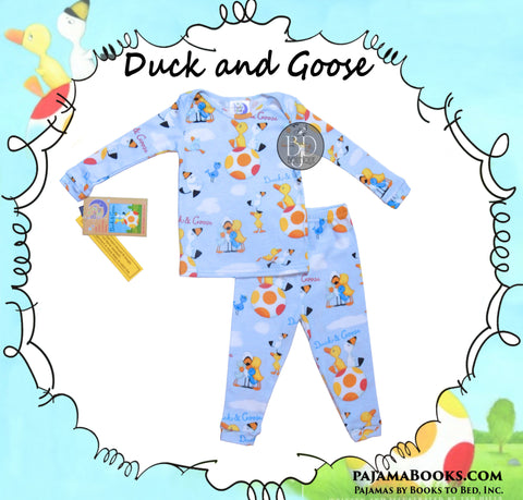 "Books to Bed: 100% Cotton Pajamas ""Duck and Goose"""
