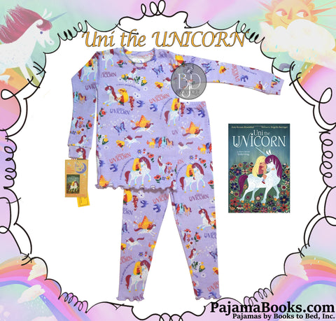 "Picture Book & Pajamas Set: ""Uni the Unicorn"""