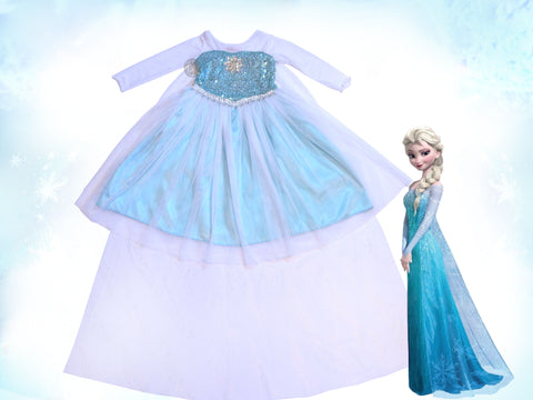 "Girls: 5-8: ""Frozen"" Elsa Dress"