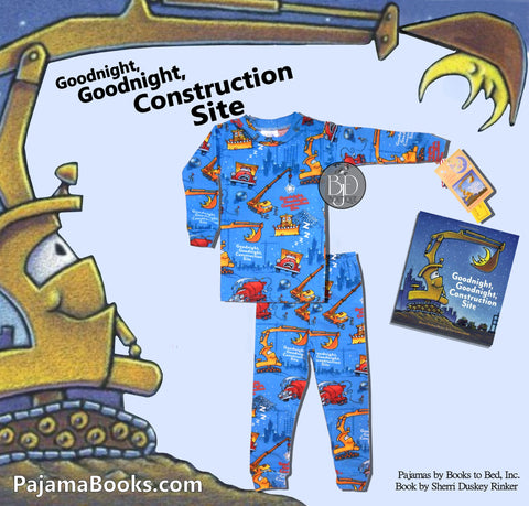"Book & PJ's Set for Boys: ""Goodnight Construction Site"""