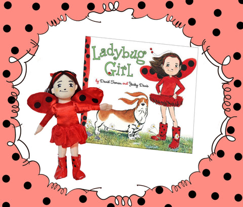 Ladybug Girl Book Plush Girl