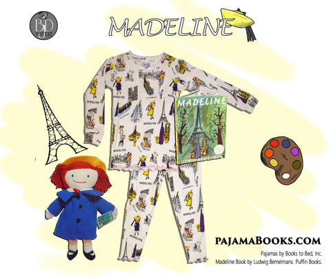 """Madeline"" Pajamas, Doll & Book"