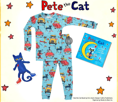 pete the cat plush pj's picture book