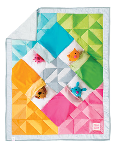 Sago mini quilt for kids with plush